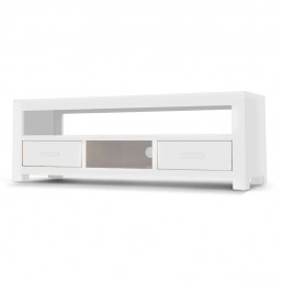 White Cube Wide TV Cabinet