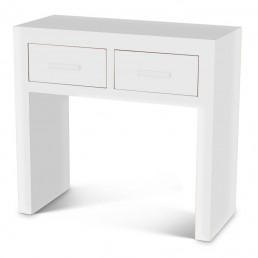 White Cube Console Table
