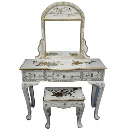 White Lacquer Dressing Table