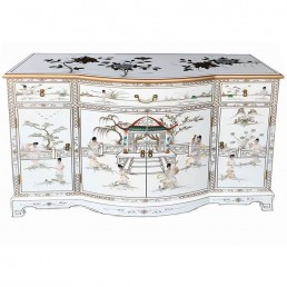 Chinese White Lacquer Sideboard