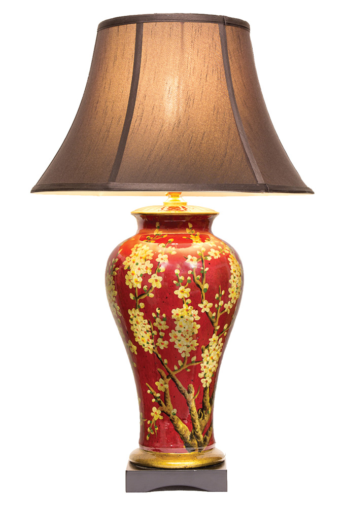 Chinese Table Lamp Tree Pair