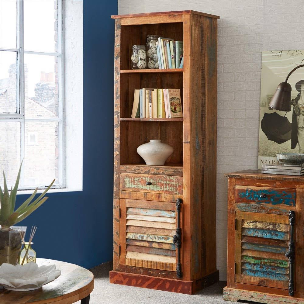 Timber Bookcase: Coastal Wood Bookcase