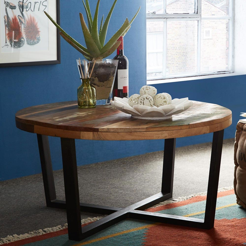 Round Coffee Table Uk Sale: Coastal Reclaimed Table Round
