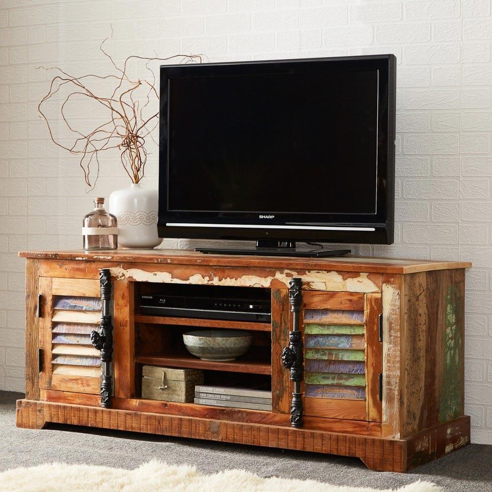 Coastal reclaimed tv unit - Reclaimed wood tv stand ideas ...