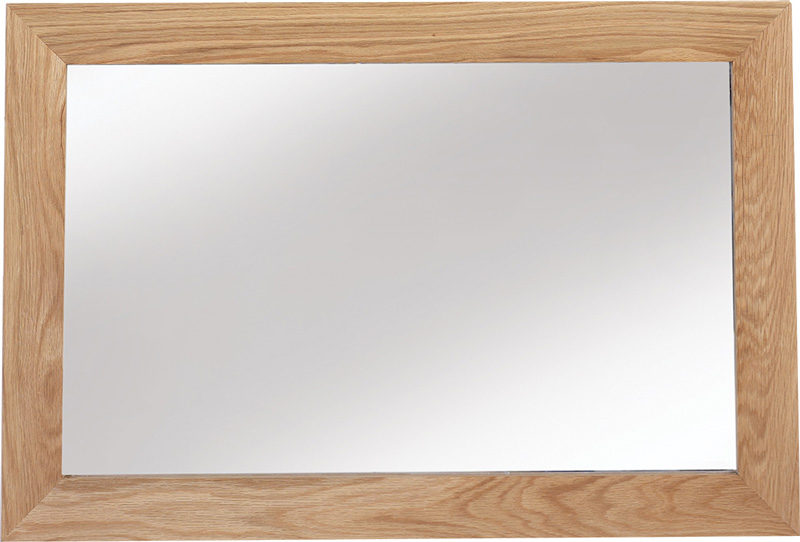 Cuba Cube Oak Framed Mirror