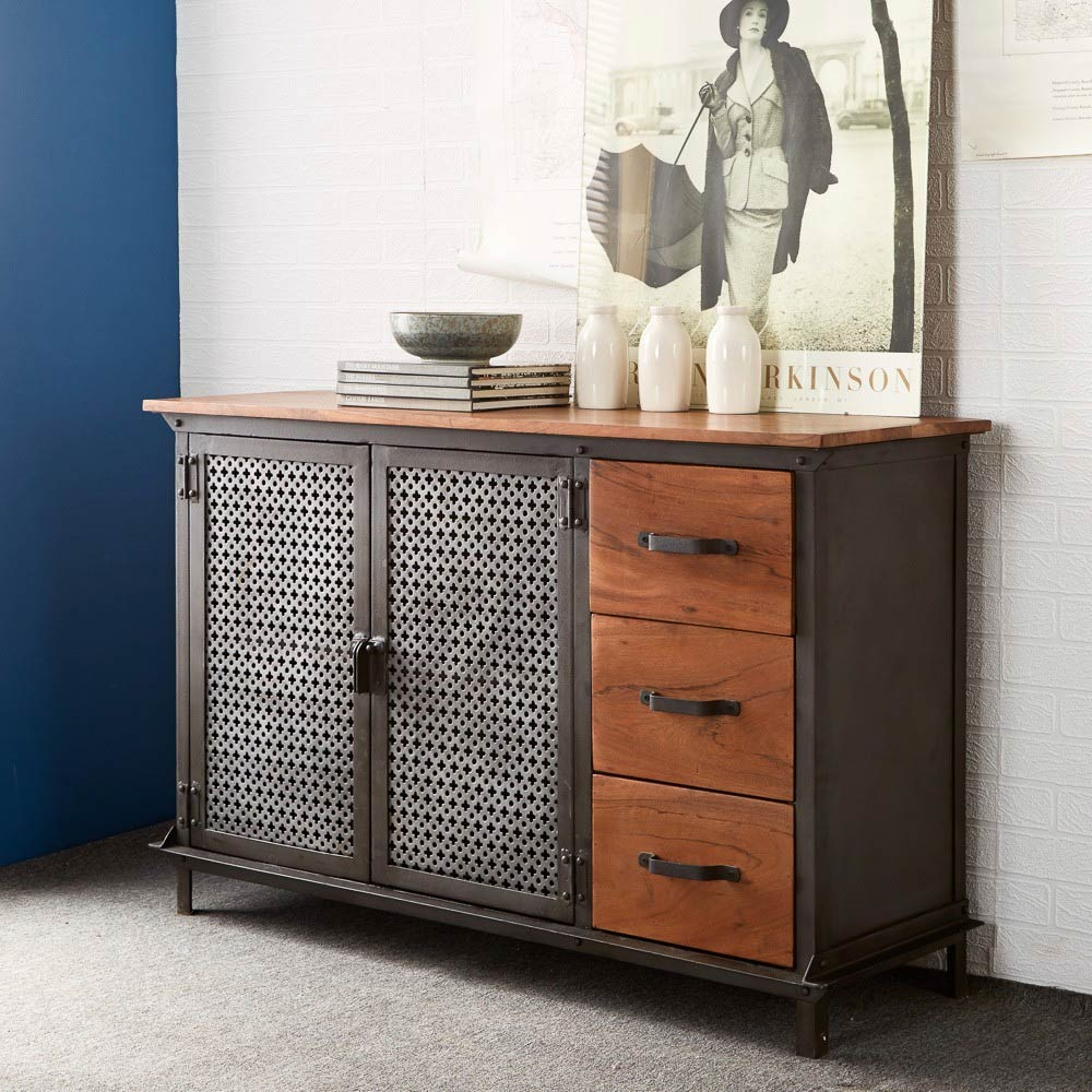 evoke industrial sideboard 2. Black Bedroom Furniture Sets. Home Design Ideas