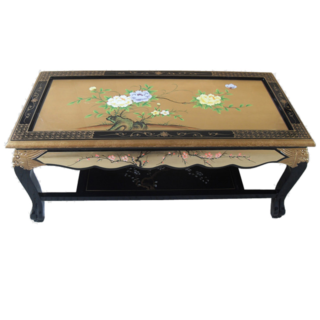 Black Lacquer Coffee Table Uk: Chinese Gold Lacquer Coffee Table