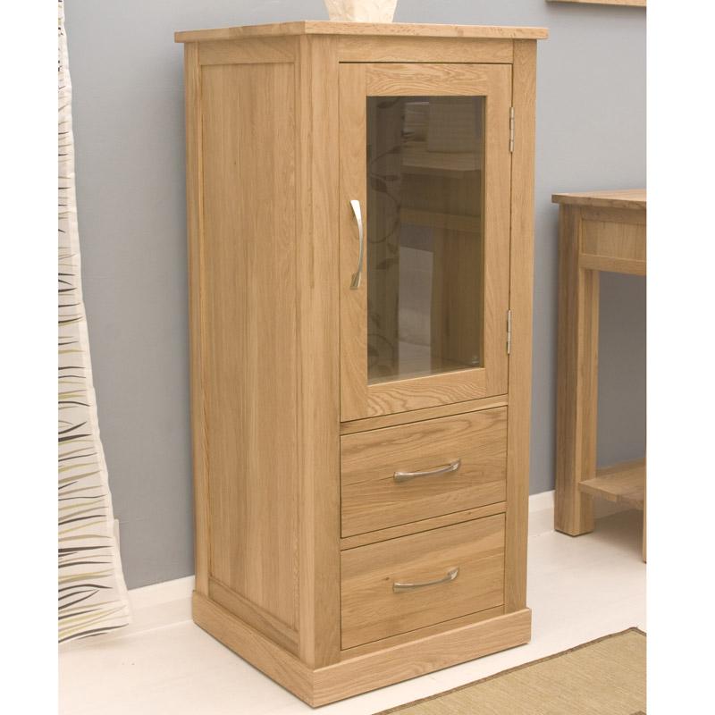 Contempo Oak Hi Fi Cabinet