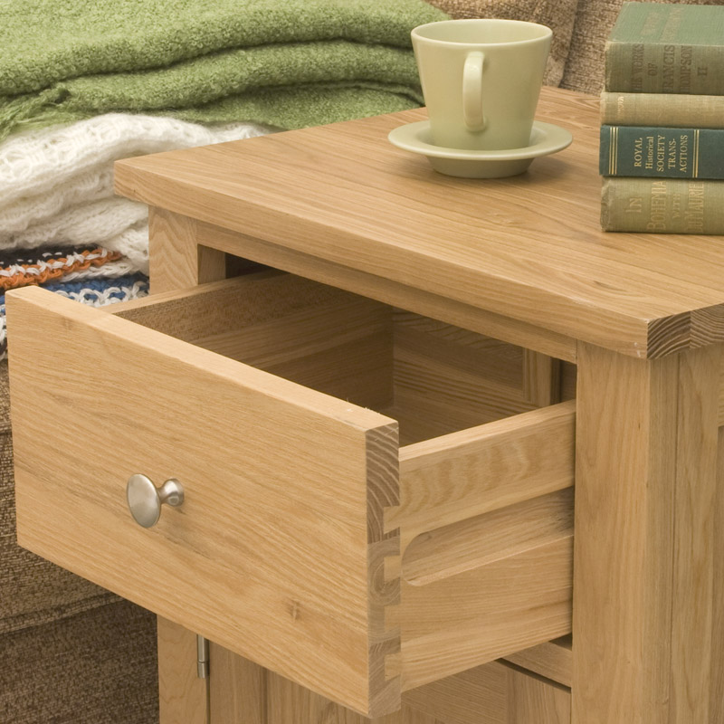 Contempo oak lamp cabinet table for Mobel asia style