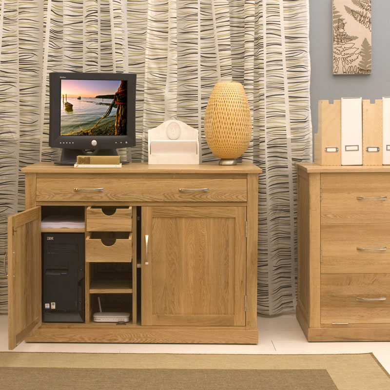 mobel oak hidden home office. Black Bedroom Furniture Sets. Home Design Ideas