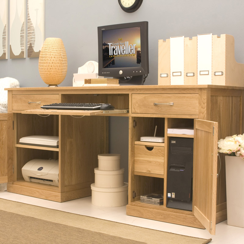mobel oak large home office. Black Bedroom Furniture Sets. Home Design Ideas