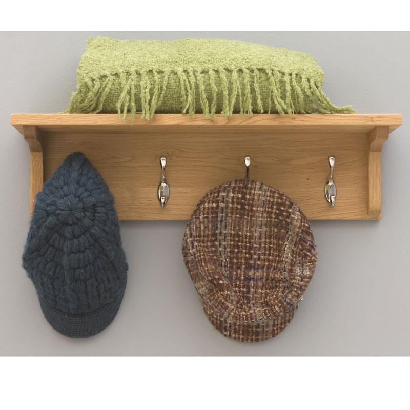 Contempo Oak Coat Shelf