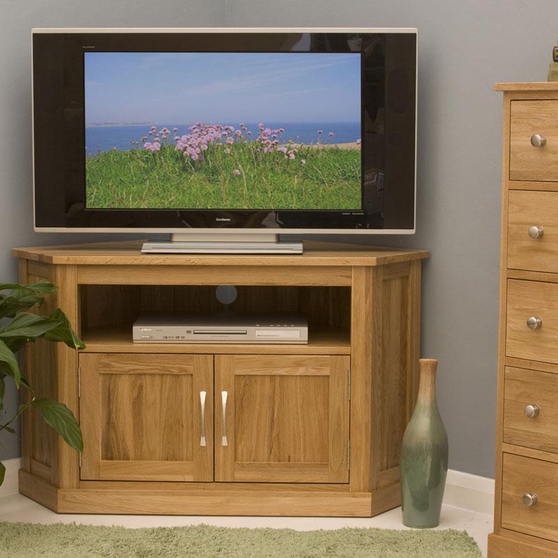 Contempo Oak Corner TV Cabinet