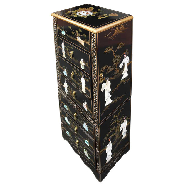Chinese Black Jewellery Armoire, Used Jewelry Armoire