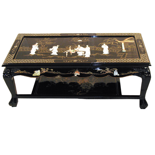 Black Lacquer Coffee Table Uk: Chinese Black Coffee Table