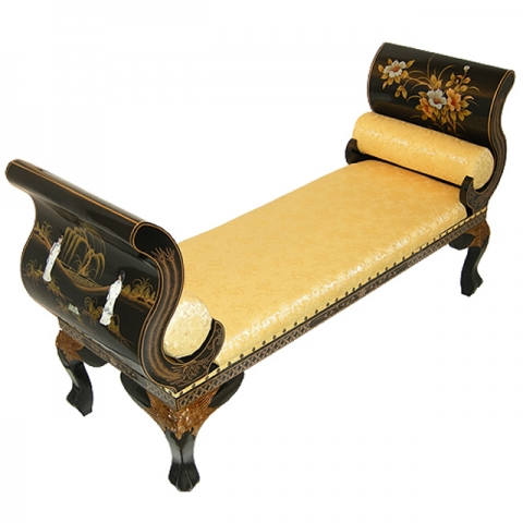 Chinese Lacquer Bench