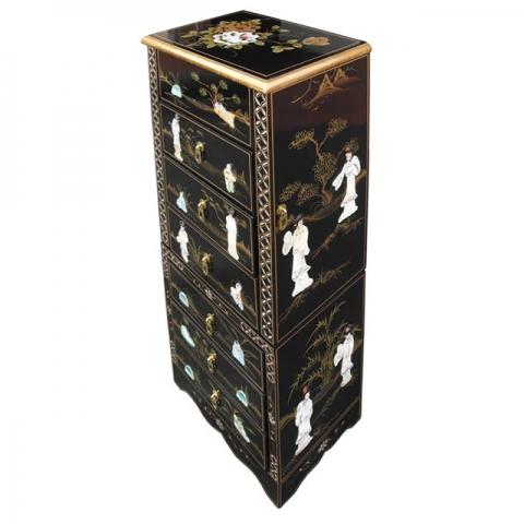 Chinese Lacquer Jewellery Armoire