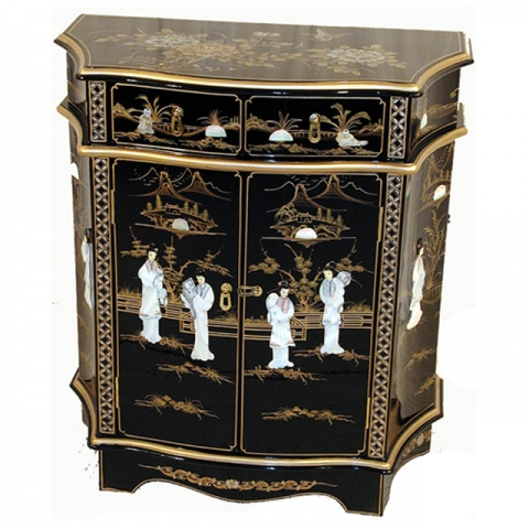 Lacquer Sculpted Cabinet