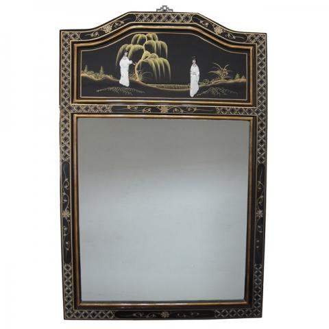 Lacquer Portrait Mirror