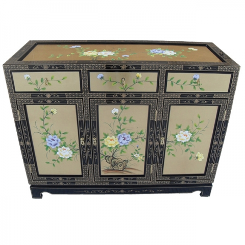 Chinese-Euro Gold Sideboard