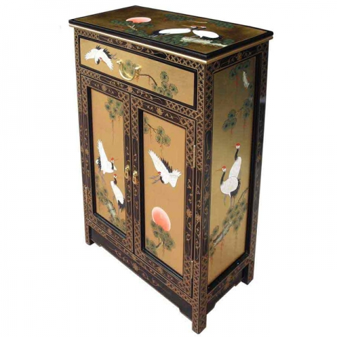 Chinese Gold Lacquer Square Cabinet