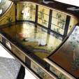 Chinese Gold Lacquer Desk & Chair