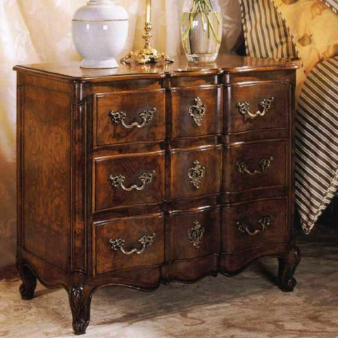 Walnut French Small Chest