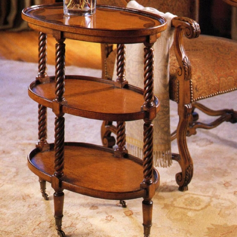 Walnut Tiered Lamp Table