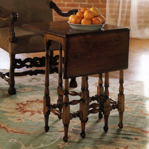 Walnut William And Mary Table