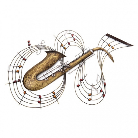 Saxophone Metal Wall Art