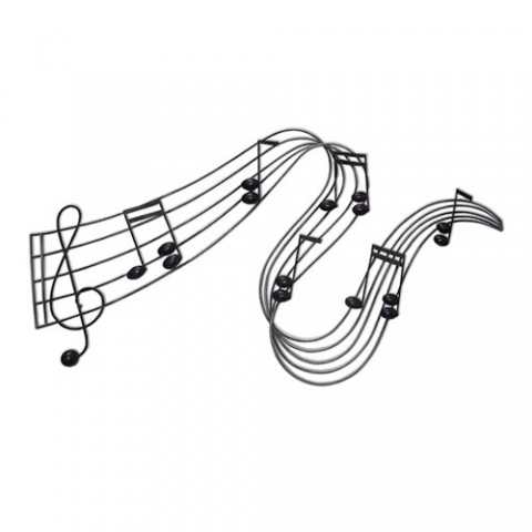 Musical Notes Metal Wall Art
