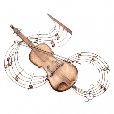 Violin Metal Wall Art