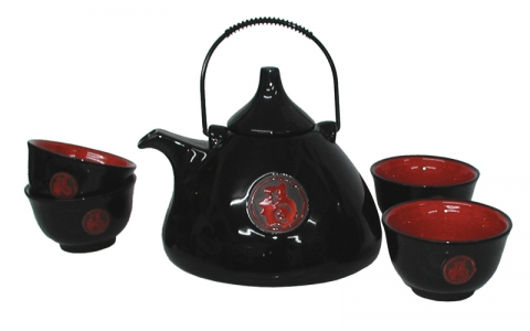 Chinese Good Fortune Teapot Set