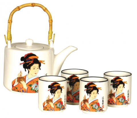 Japanese Lady Teaset
