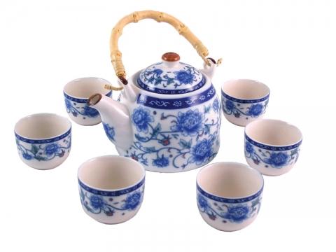 Chinese Peony Teapot Set