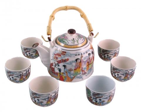 Chinese Musicians Teapot Set
