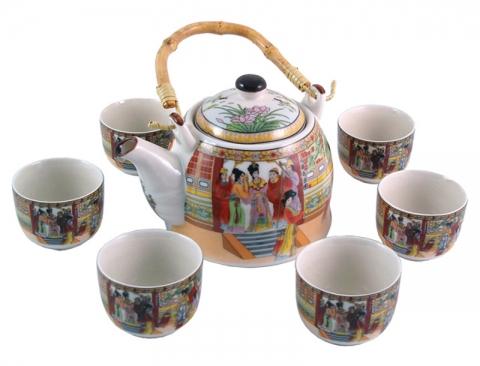 Chinese Palace Ladies Teapot Set
