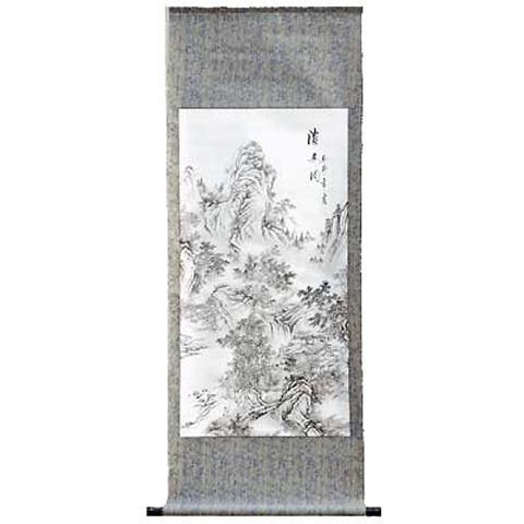 Chinese Scroll with Scenery