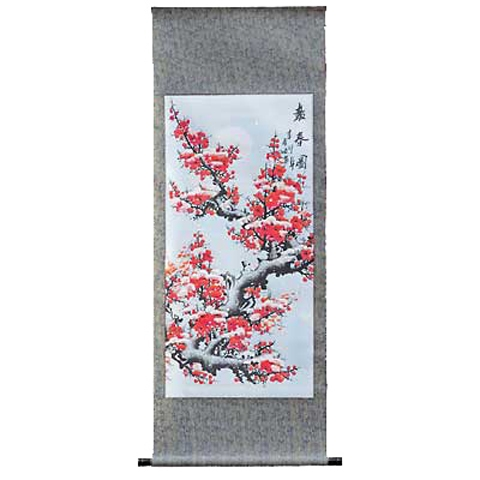 Chinese Scroll with Plum Blossom