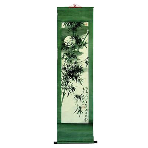 Chinese Scroll with Bamboo
