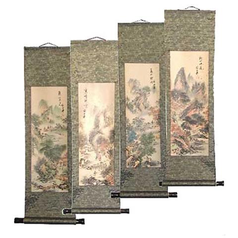 Chinese Scrolls Four Seasons Set