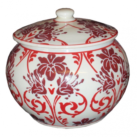 Red Floral Pot
