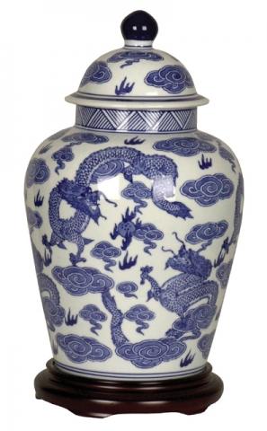 Blue Chinese Jar