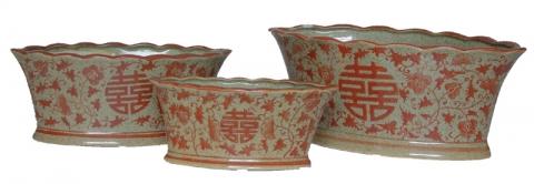 Chinese Plant Pot Set