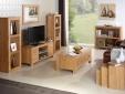Cuba Cube Oak Long TV Cabinet