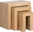 Cuba Cube Oak Table Nest