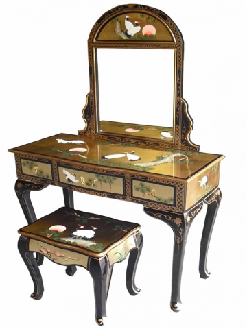 Lacquer Dressing Table Set