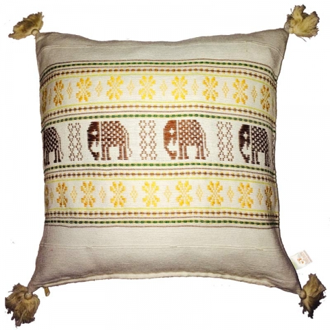 Thai Elephant Cushion Cover