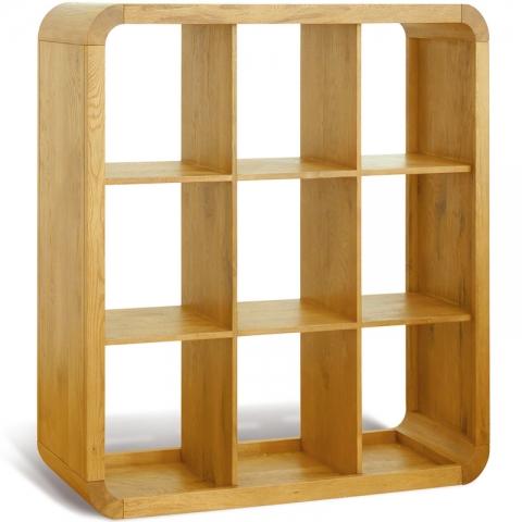 Clover Curved Oak Bookshelf