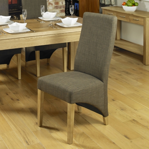 Upholstered Oak Dining Chair